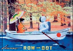 Lorenzo Scaretti shows a japanese girl with a robot on a boat